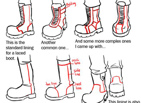491x360 Comic Art Reference Boots