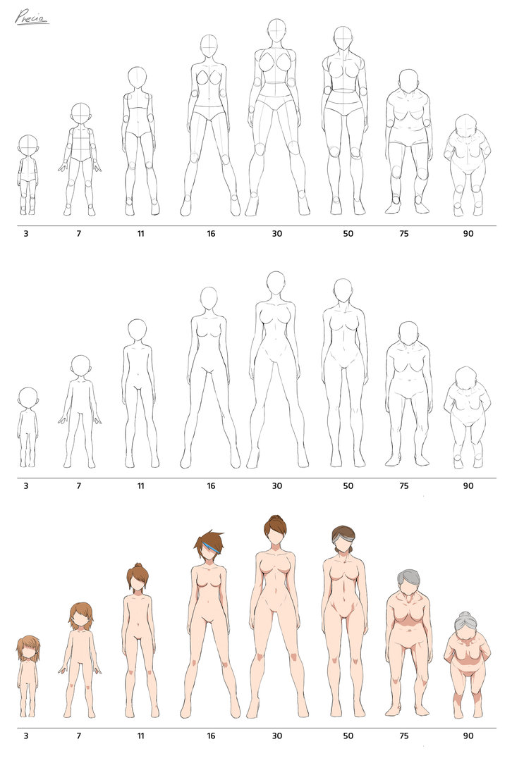 726x1100 Fullbody Aging By Precia T On Drawing Tutorials