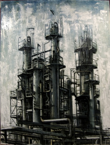 363x480 Oil Refinery Industrial Landscapes Oil Refinery