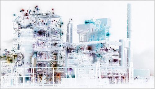 500x288 Refinery Technical Drawing By Keith Watson Photography, Via