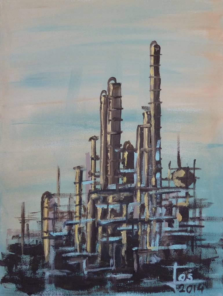770x1022 Saatchi Art Oil Refinery 1 Painting By Jos Smit