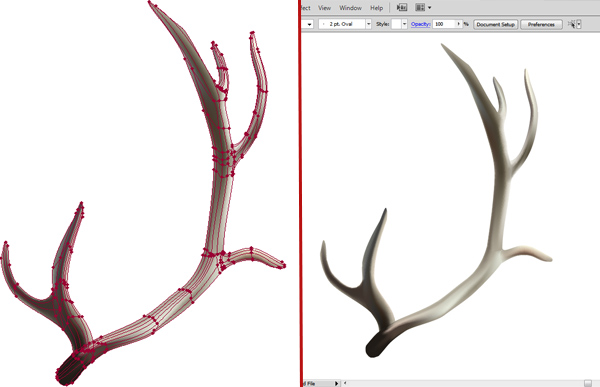 600x387 How To Create A Realistic Reindeer With Gradient Mesh In Adobe