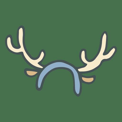 512x512 Reindeer Antler Headband Hand Drawn Cartoon Icon 41