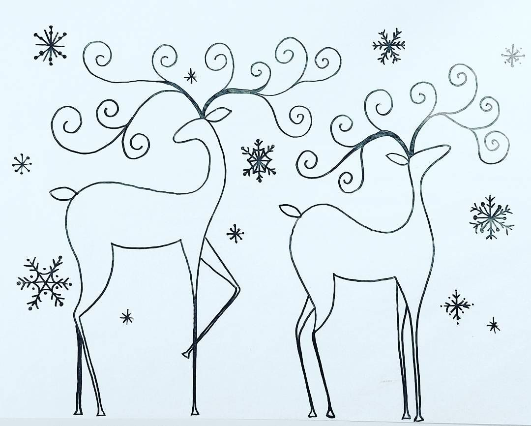 Reindeer Body Parts Coloring Page   www.topsimages.com