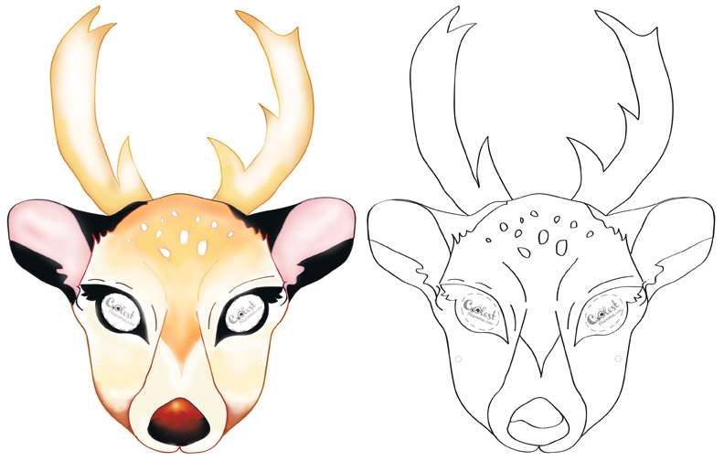 photo about Reindeer Template Printable called Reindeer Drawing Template at  Absolutely free for
