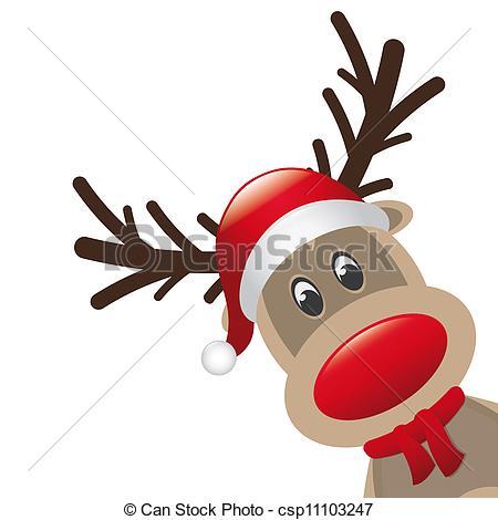 450x470 Peeping Reindeer Window Sticker