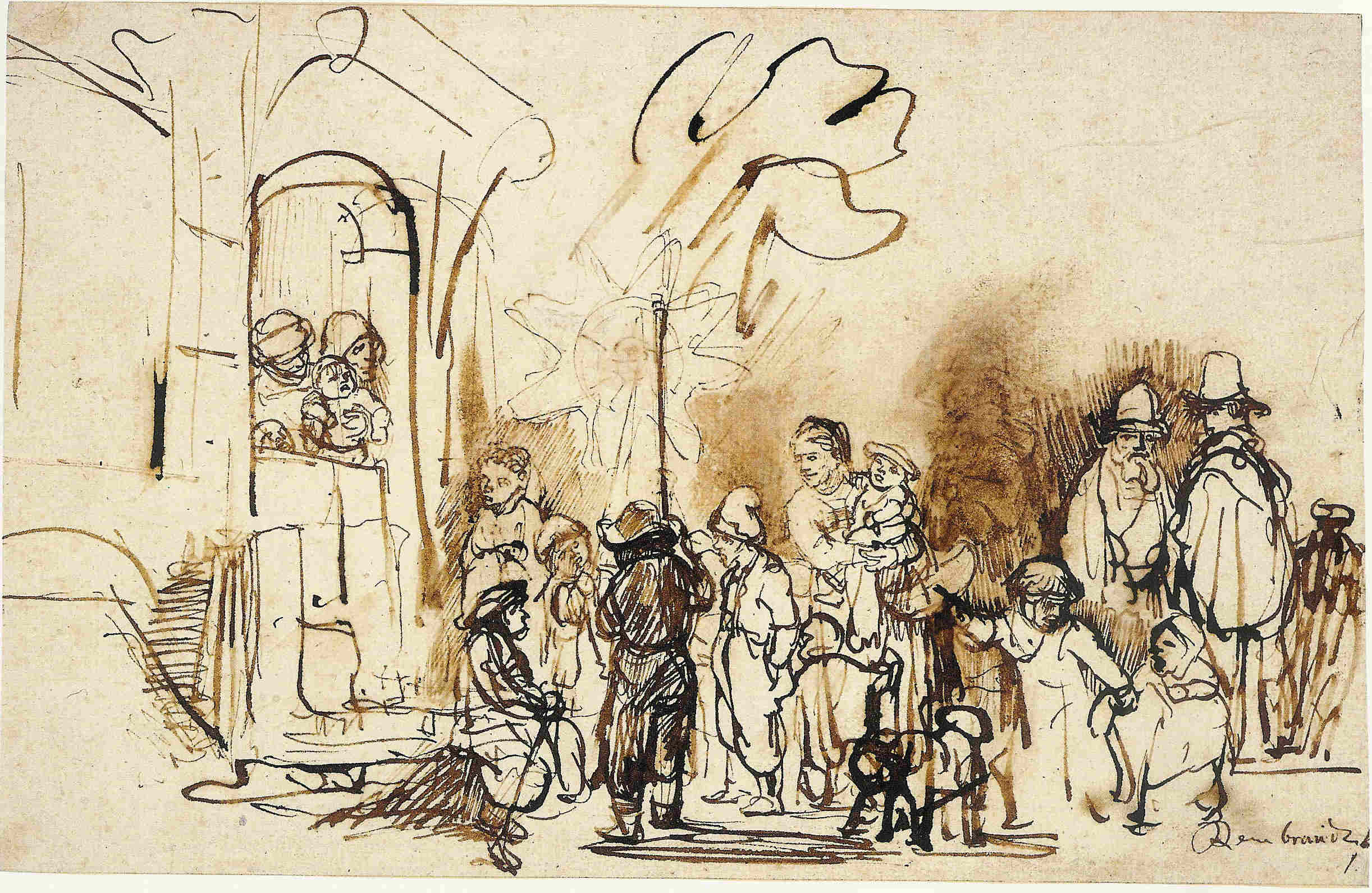 2444x1592 Brush Drawings Rembrandt, Drawings And Vans