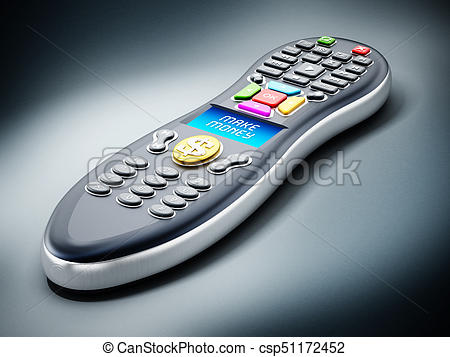 450x357 Make Money Text On Remote Controller Lcd Panel. 3d Stock