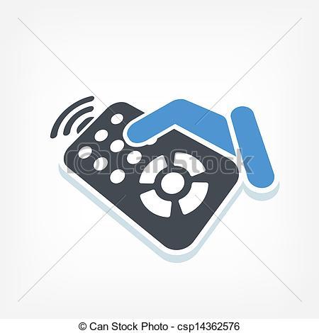450x470 Remote Control Label Icon Vectors Illustration