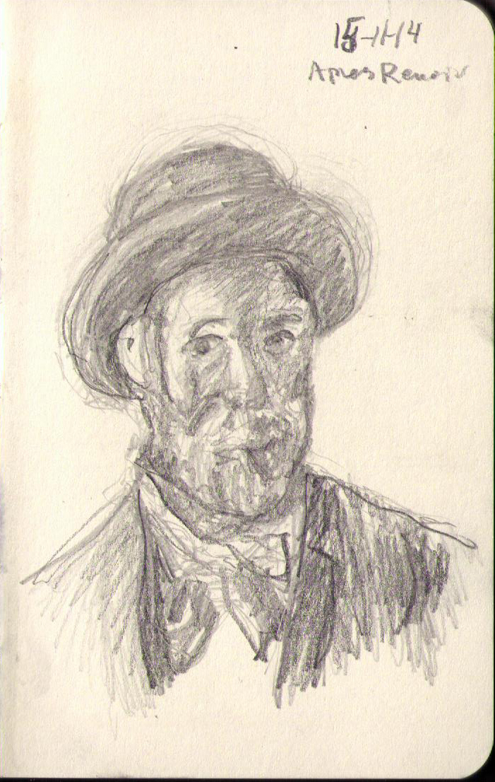 701x1106 166 Portrait After Renoir One Drawing Daily