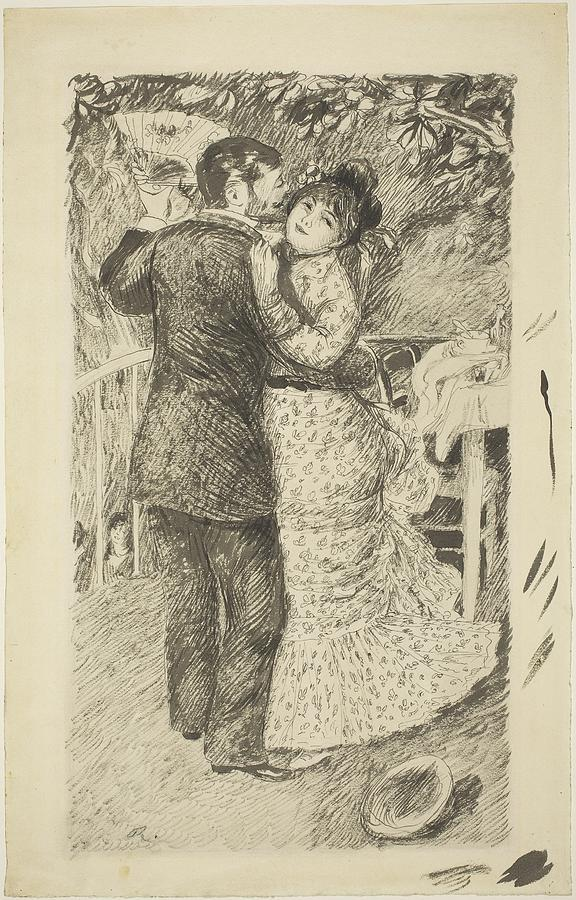 576x900 Dance In The Country Drawing By Auguste Renoir