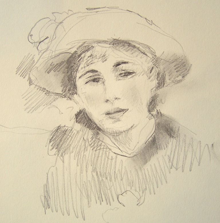 768x779 Renoir Art Sketches, Drawings With Pencil, Pen And Ink