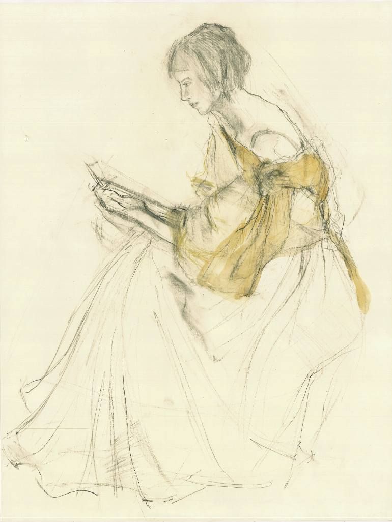 770x1026 Saatchi Art Hommage Renoir Iii Drawing By Ute Rathmann