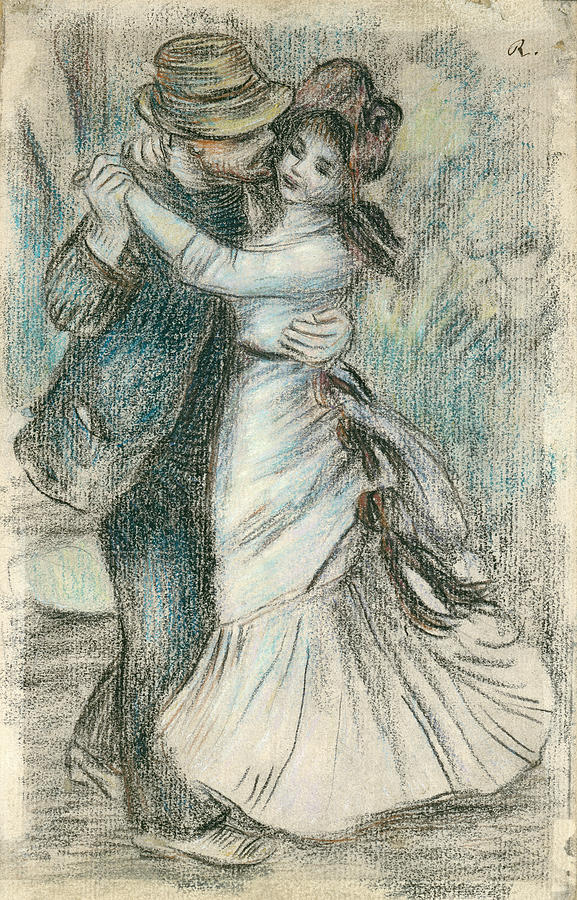 577x900 The Dance Drawing By Pierre Auguste Renoir