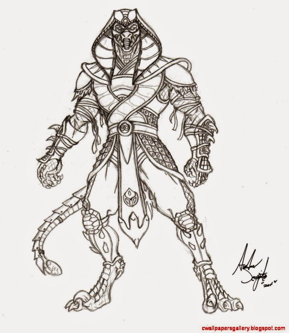 998x1151 Reptile Drawing Mortal Kombat Wallpapers Gallery
