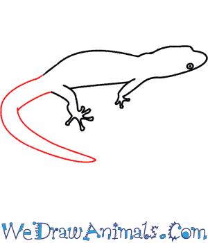 300x350 How To Draw A Lizard
