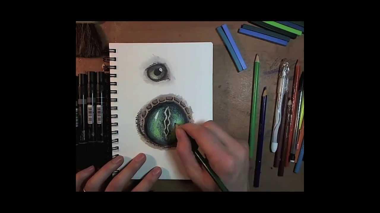 1280x720 Reptile Eye Drawing