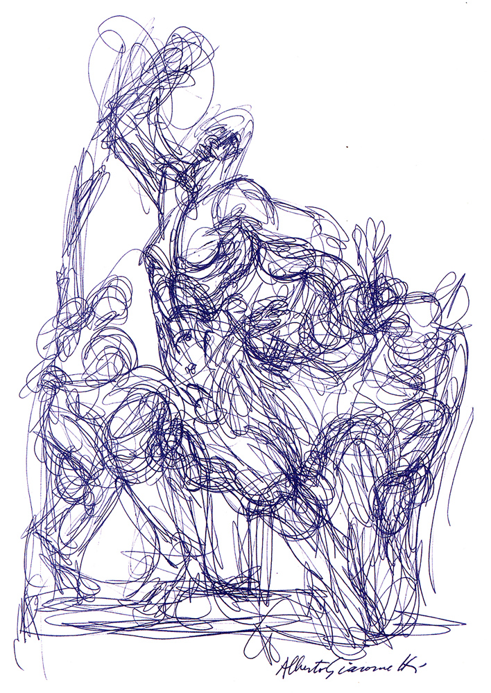 708x1000 Drawing 1, Ass 5, Research Point Alberto Giacometti Sarah