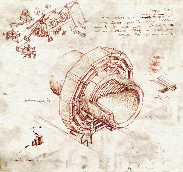 640x601 Drawings Of The Lhc In The Style Of Leonardo Da Vinci