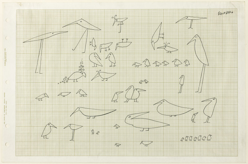 800x530 Birds Of A Feather Saul Steinberg Artist Research, Drawing Class