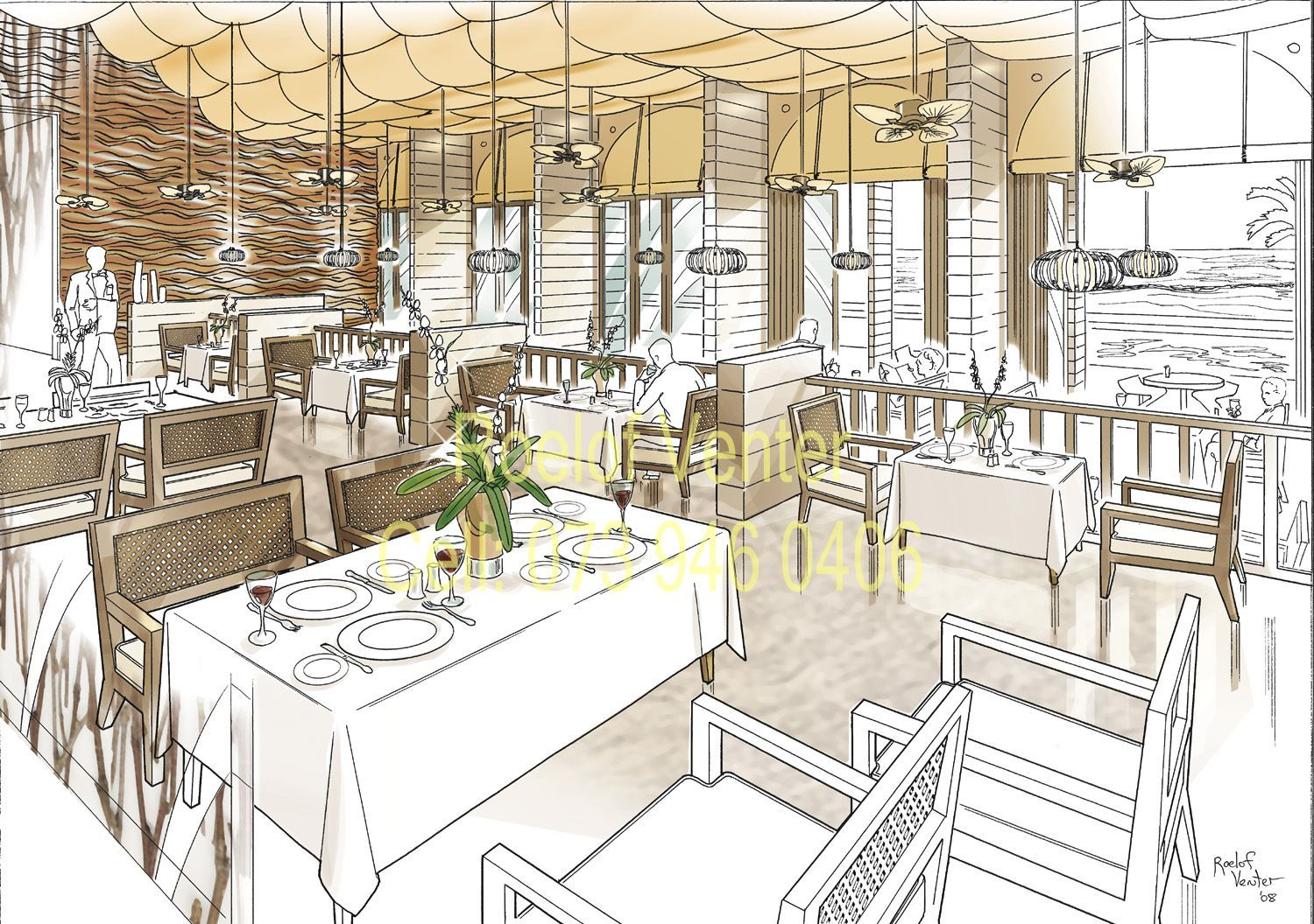 Restaurant Drawing At Getdrawings Com Free For Personal
