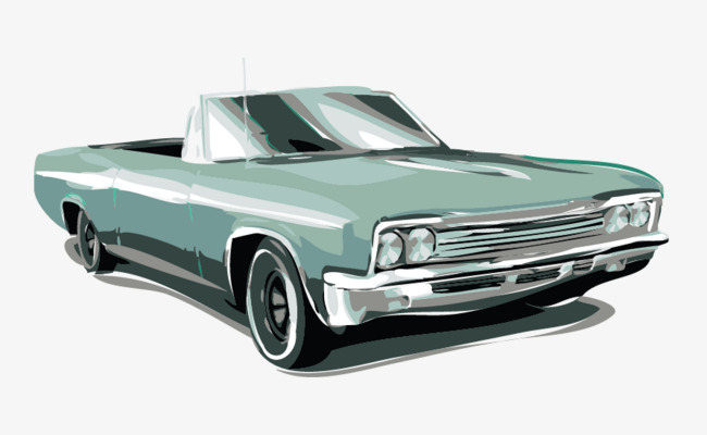 650x400 Vector Drawing Retro Car, Vintage Cars, Painted Cars, Watercolor