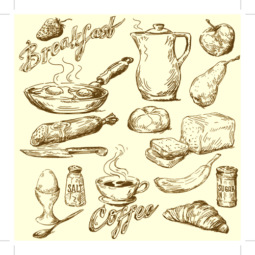 500x500 Drawing Foods Retro Illustrations Vector 02