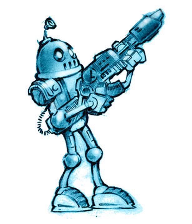 616x720 Retro Robot By Eyth