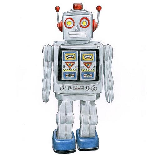500x500 Retro Robot