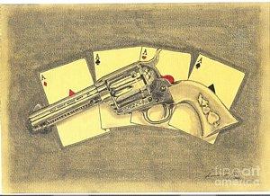 300x218 Colt Revolver Drawings Fine Art America