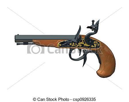 450x357 Old Revolver Drawing Old Gun