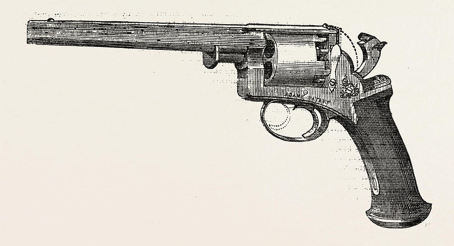 900x488 Revolver Pistol Drawing By Deane, Adams, And Deane