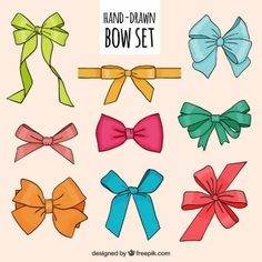 236x236 Cute Hand Drawn Ribbons Free Vector Cuttable Vinyl Ideas