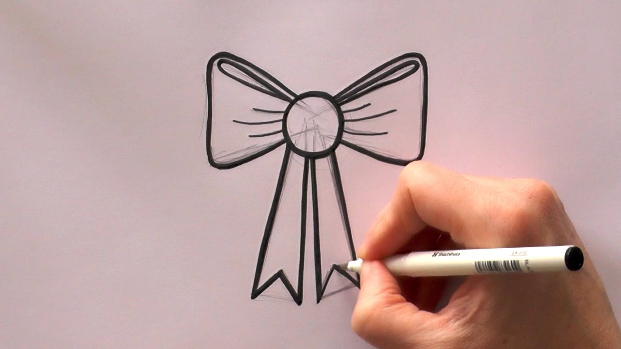 1280x720 How To Draw A Cartoon Ribbon Bow