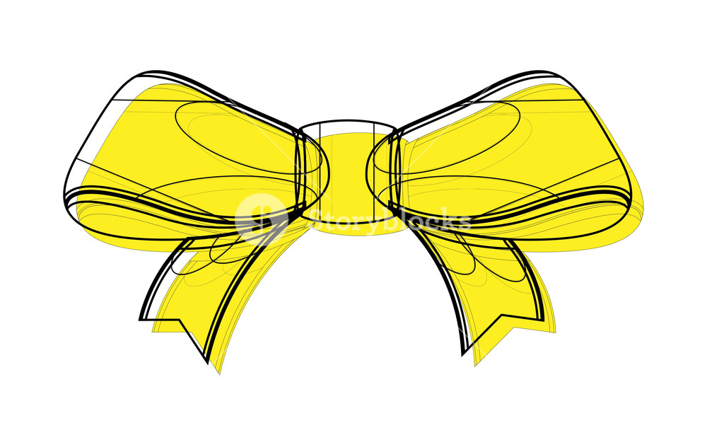 1000x629 Ribbon Bow Drawing Royalty Free Stock Image