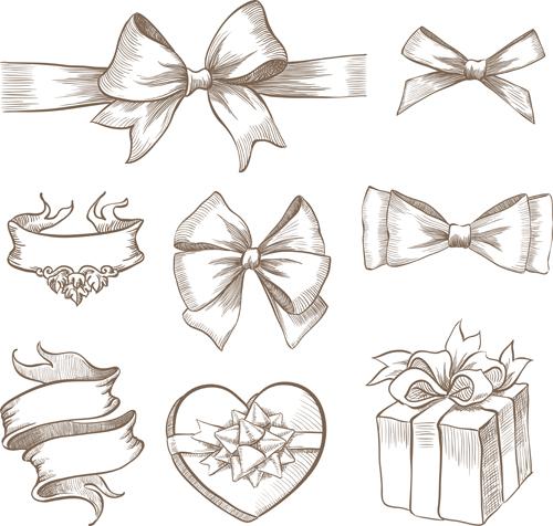 500x476 Draw Christmas Ribbon Drawing Merry Christmas Amp Happy New Year Arts