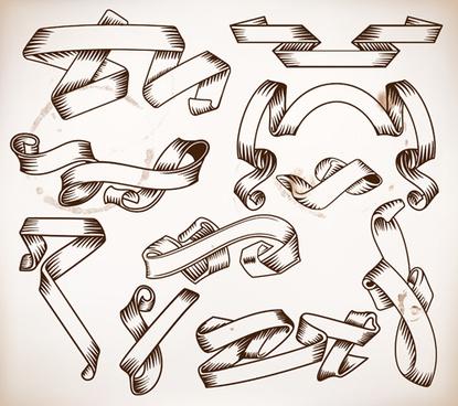 415x368 Hand Drawn Ribbon Free Vector Download (9,393 Free Vector)