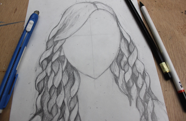 600x390 Easy Step By Step Instructions For Drawing Curly Hair