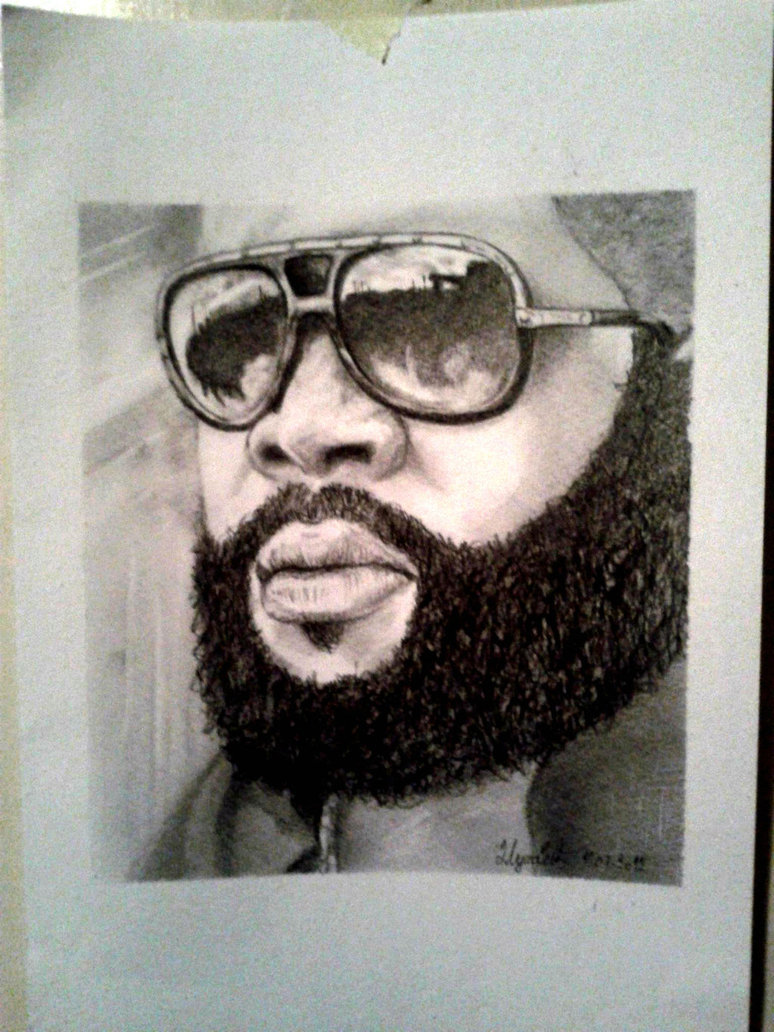 774x1032 Rick Ross Drawing By Indigotattoo