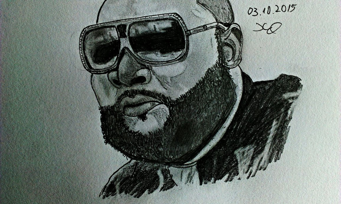 1156x691 Rick Ross Drawing 2015 By Xakdrawing