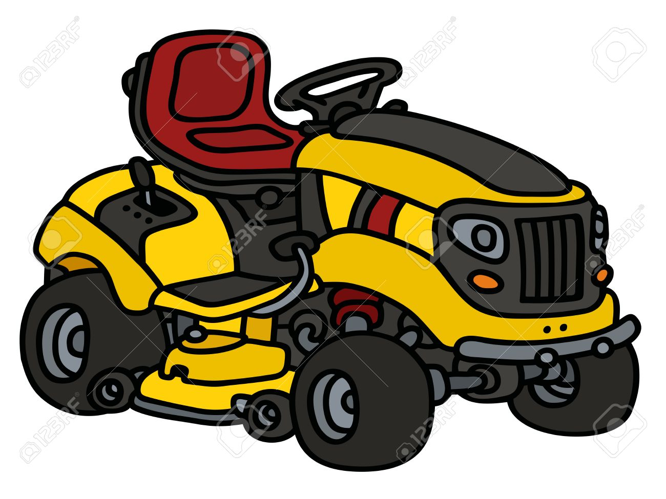 Riding Lawn Mower Drawing At Getdrawings Com