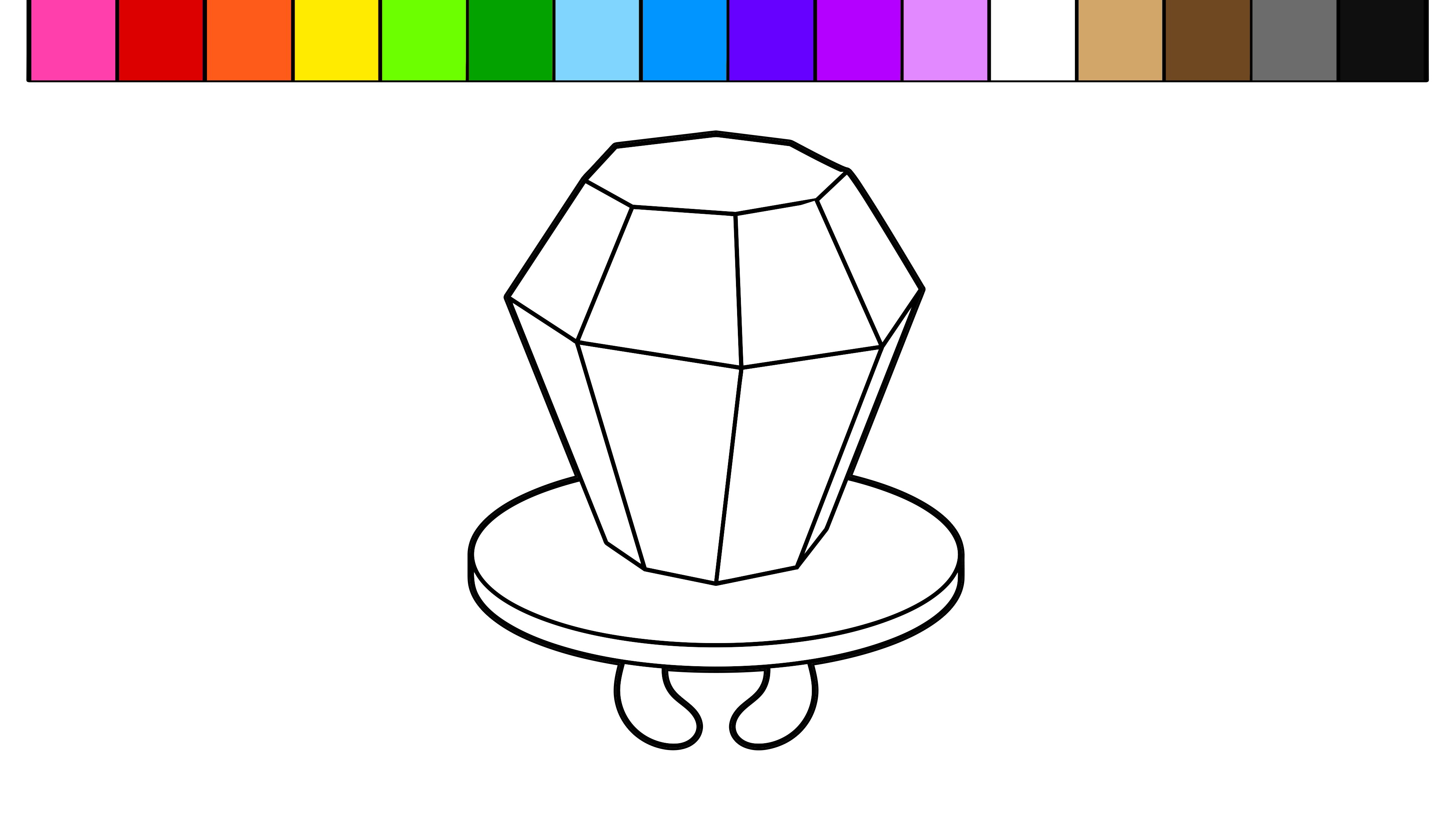 3840x2160 Learn Colors For Kids With This Ring Pop Candy Coloring Page