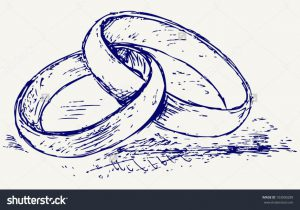 300x210 How To Draw A Wedding Ring Lovely The Gallery For Two Wedding