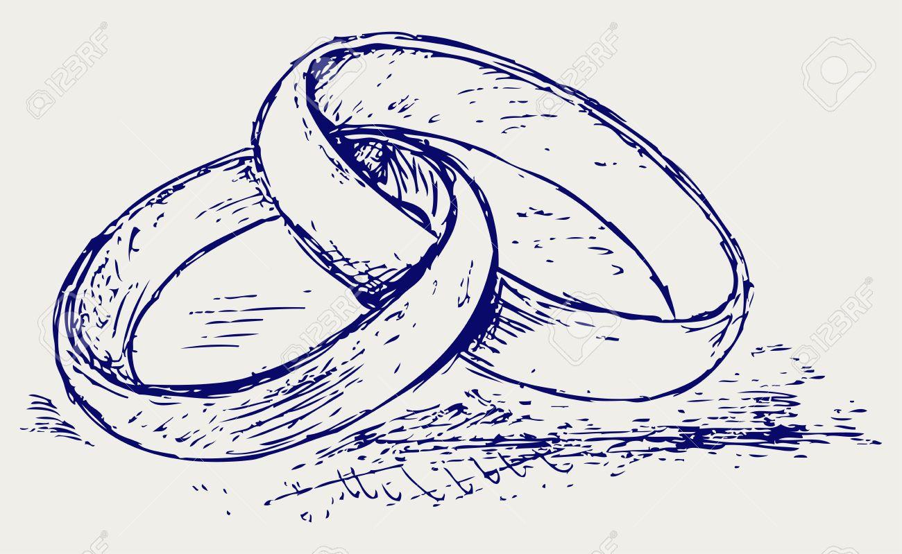 1300x799 Sketch Pencil. Wedding Rings Royalty Free Cliparts, Vectors,