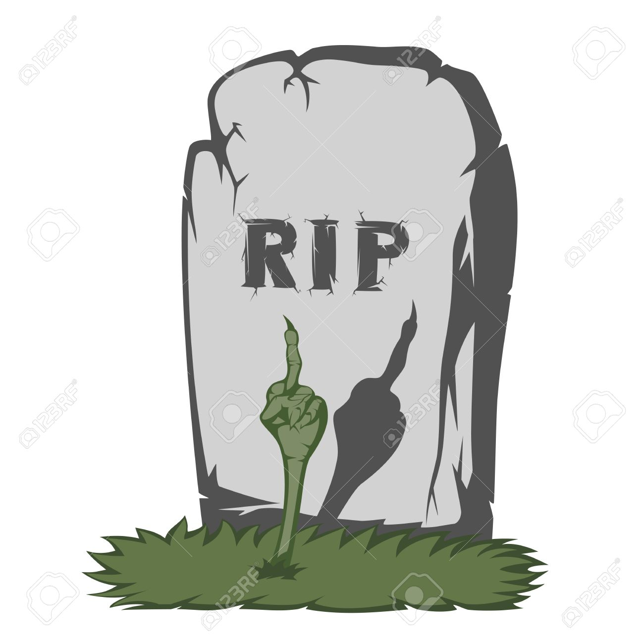 1300x1300 The Gray Gravestone With Rip And Grass Scary Text And Fingers