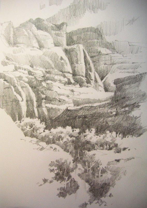 568x800 Roland Lee Travel Sketchbook Sketchbook Drawings Of Capitol Reef