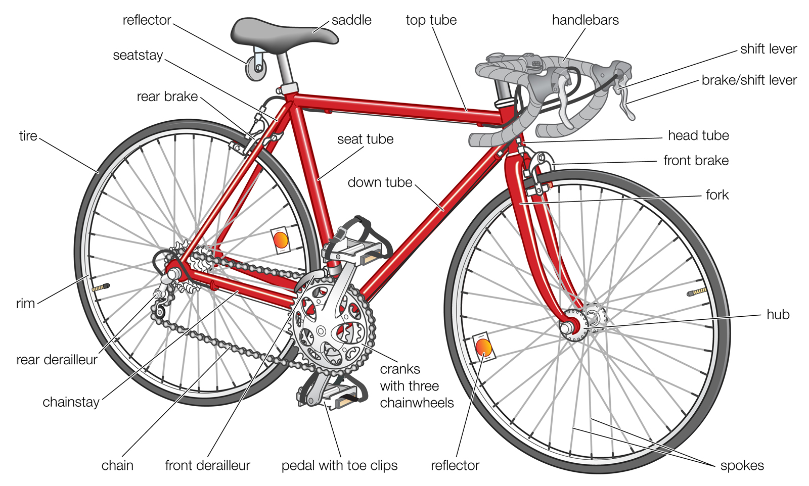 1600x962 Basic Features Of A Modern Road Bike. Credit