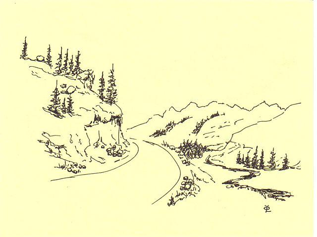 640x479 Road Drawing by Lennart Osterlind