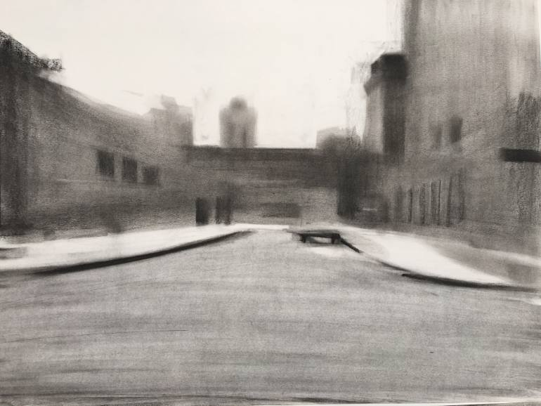 770x578 Saatchi Art Road Drawing by louise camrass