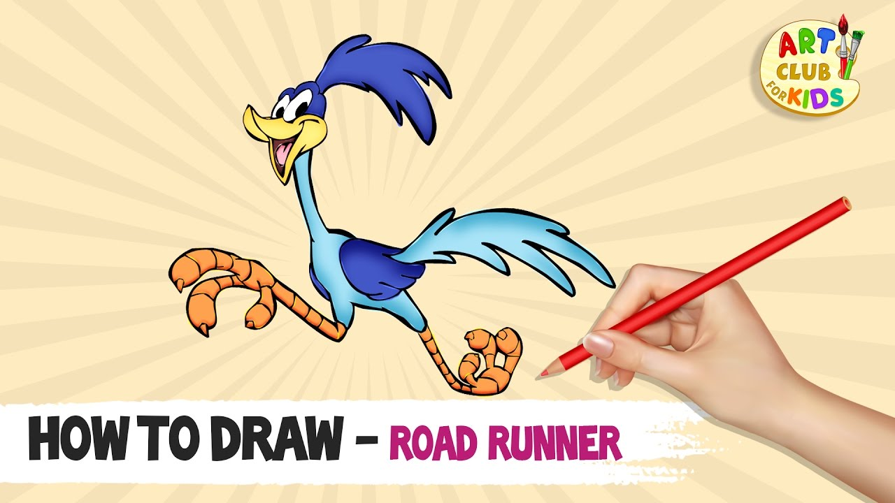 1280x720 How To Draw Road Runner The Road Runner Show Cartoon Network
